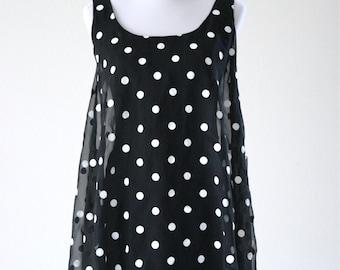 1990s Vintage Polka Dot Mini Dress
