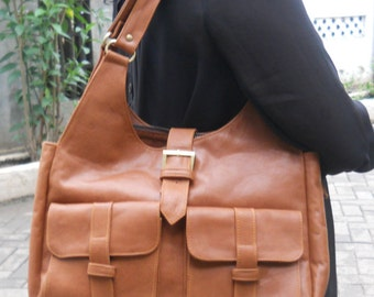 Chaca Leather Hobo Bag