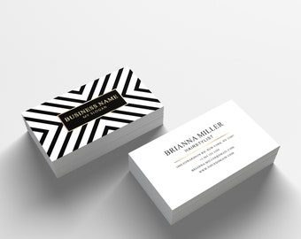 Business Card Template 04 - 2 Sided Business Card Design - Appointment Card for Salon or Hair Stylist - Photoshop Business Card Template
