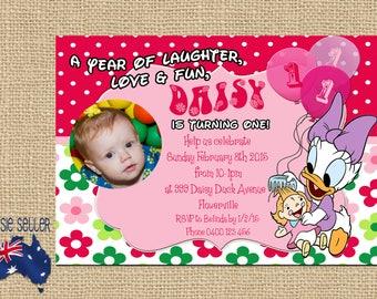 Printable Daisy Duck Invitation Daisy Duck Party