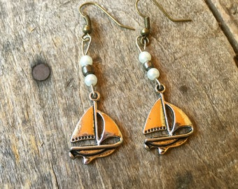 Sailboat Pearl Earrings