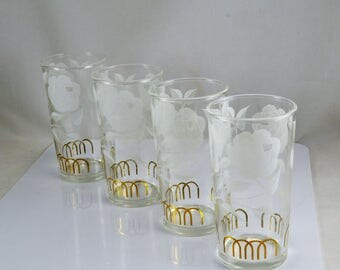 8 ounce water glass etsy. Black Bedroom Furniture Sets. Home Design Ideas