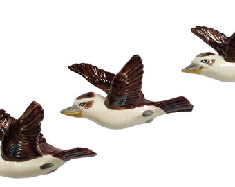 Set 3 Flying Wall Kookaburras