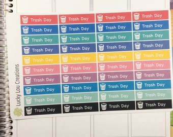 Set of 40 Trash Day Planner Stickers