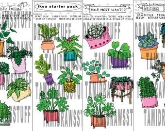 Plant Sticker Packs