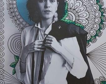 Black and White Frida Print