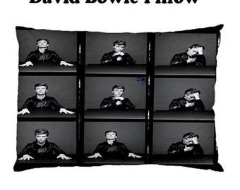 David Bowie Pillow Case, pillow, bedding, bedrrom, glam rock, seventies, music, glam, music