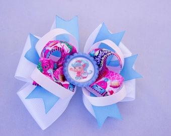 Shopkins  hair bow,  Princess hair bow,Shopkins   bow, girl hair bow,   hair bow,  Shopkins  birthday hair bow