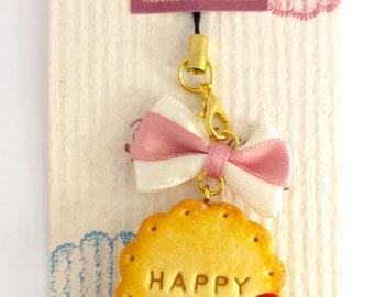Strawberry Jam Sandwich Cookie Keychain