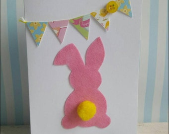 Handmade Easter bunny cards personalised
