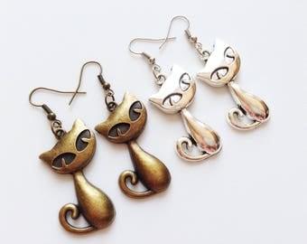CAT Earrings Cat Jewelry Cat Lovers Gift Animal Jewelry Animal Earrings Pet Earrings Cat Charm Animal Lovers Gift Cat Lovers Earrings Gift