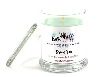 Green Tea - Scented Candles, Handmade Candles, Scented Candle, Aromatherapy Candles, Green Tea Candle, Gift Ideas