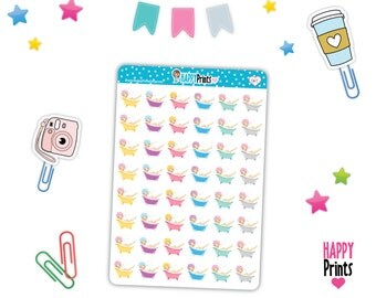 HP 067) -- Bath Time Stickers, Planner Stickers
