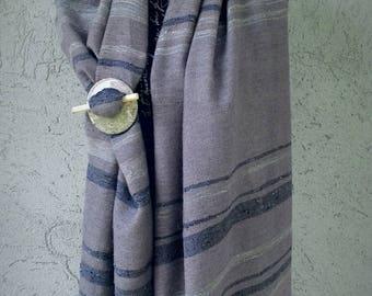 RANDOM stole, silk and mohair, hand-woven