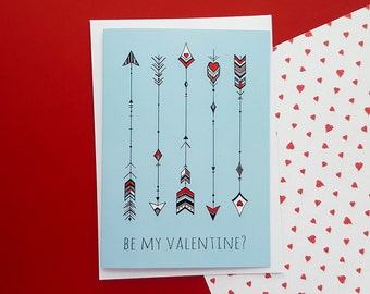 Valentines Card Cupid's Arrows | Valentine's Day Card, Girlfriend Valentines, Boyfriend Valentines, Wife Valentines, Husband Valentines