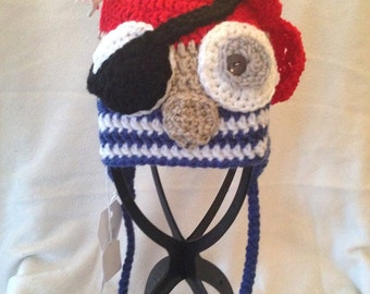 Pirate Owl Hat 9-12 months