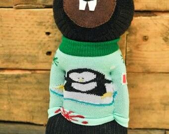 Beaver sock animal