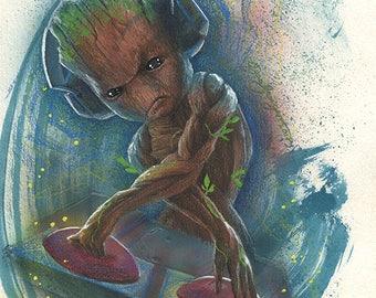 DJ Baby Groot Painting