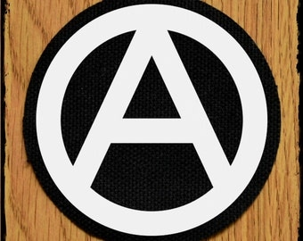 Round anarchy patch - round punk patch - punk patches - 70mm punk patch - band patched - punk fashion