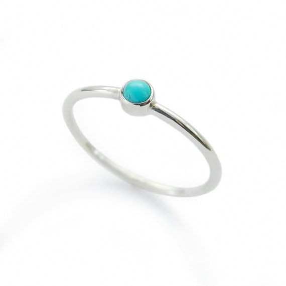 Tiny Turquoise Ring stacking gold Ring Minimalist Engagement