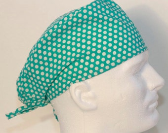 Skull Style Scrub Cap -Polka Dotted Surgical Cap-Scrub Hat- Surgical Cap - Nurses Scrub Cap- Male Scrub Hat- Surgical Hat