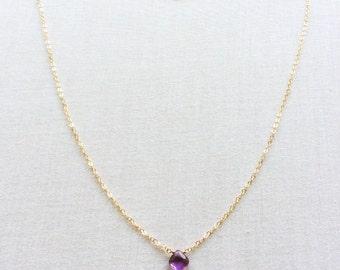 Amethyst Necklace, Amethyst Necklace Gold, 14k Amethyst Necklace, February Birthstone Amethyst Jewelry  Dainty Amethyst Necklace ,Choker BN2