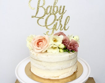 Baby Girl Cake Topper. Baby Shower Cake Topper. Baby Girl. Girl Baby Shower Cake Topper. It's a Girl Cake Topper. Glitter Cake Topper