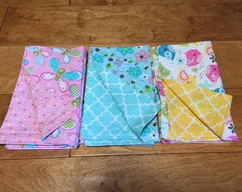 Lunchbox Napkins, Cloth Napkins, Kids' Napkins, Reusable Napkins, Double Sided Napkins, Child's Lunchbox Napkins