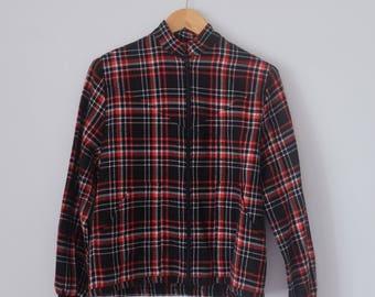 Vintage Tartan Bomber Jacket