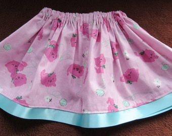 Toddlers skirt with adjustable waist.