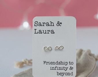 Infinity friendship earrings
