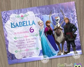 Frozen Invitation, Disney Frozen, Frozen Birthday Invitation, disney Frozen Invitation, Frozen Birthday, Frozen Party, Frozen Movie Invite