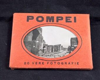 Vintage leporello Pompei photo book collectable Vintage photos Italian made in italy photography fotografie leporello