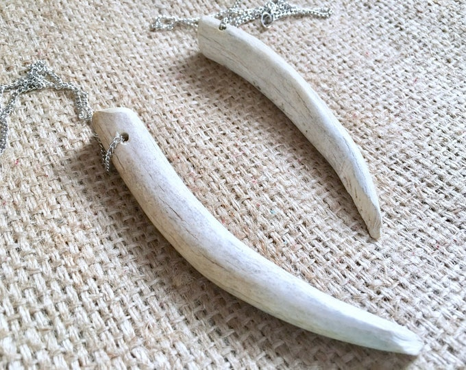 Antler Necklace, Antler Tip Necklace, Antler Pendant, Real Antler Necklace, Deer Antler Necklace, Antler Shed Necklace, Antler Tine Necklace