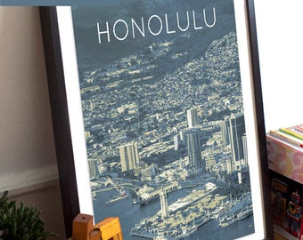 Honolulu, HI Poster 11x17 18x24 24x36
