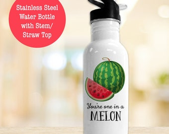 BPA Free Stainless Steel Water Bottle, You're One In A Melon Watermelon Eco Friendly Water Bottle
