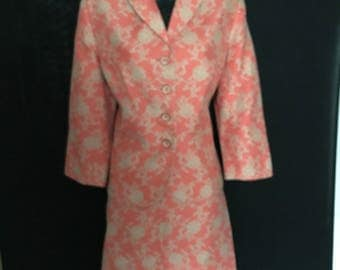 Ladies Tangerine and Taupe Suit             VG288