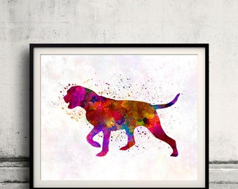 Portuguese Pointer 01 in watercolor - Fine Art Print Poster Decor Home Watercolor Illustration Dog - SKU 2303
