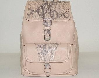 """Beige leather backpack """"Ecru"""""""