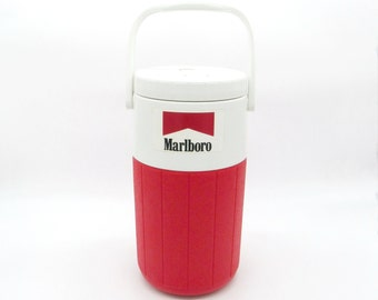 Water Jug, Thermos, Vintage Thermos, Water Cooler, Marlboro, Vintage Marlboro, Marlboro Cigarette, Coleman, Water Bottle, Water Dispenser,