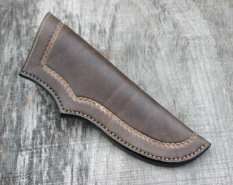 Quality Leather Knife Sheath / Strong & Durable Knife Sheath Made To Fit Any Knife / Custom Tooled Design By PegCity Leather
