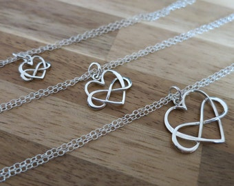 Generations jewelry,Infinity heart bracelet,Interlocking infinity heart bracelet,Grandmother, Mother daughter, sterling silver, love