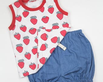 Organic Baby Outfit,Organic Toddler Outfit ,Summer Girls  Set