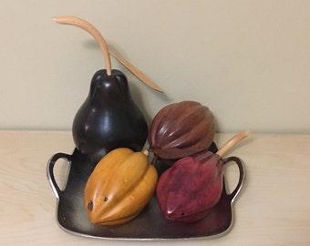 Big  Hand Carved Wood Fruit Bowl Made in Venezuela
