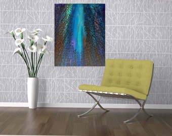 Free Shipping Northern Lights Art-Northern Lights Painting Aurora Borealis Art -Night Painting Canvas Painting -16 x 20 Sky Painting-Sky Art