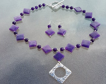 Summer Sale Now Only 85.00 Butterfly Amethyst Necklace