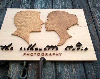 Corporate Wooden Logo Sign / Custom Sign / Etsy Shop Logo / FREE DESIGN DEVELOPMENT