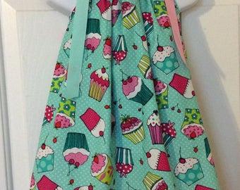 Mint Green Cupcake Pillowcase Dress Size 2t