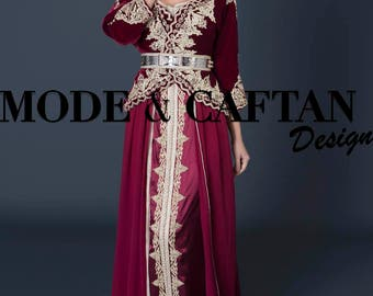 Caftan Moroccan inspiration Algerian 2017 modern for sale