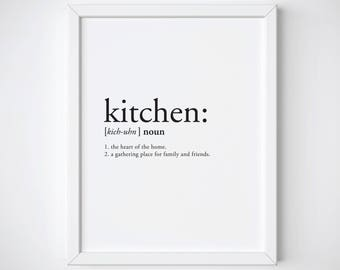 Definition Print - definition poster - kitchen decor - kitchen definition - kitchen print - definition prints - dictionary print - kitchen
